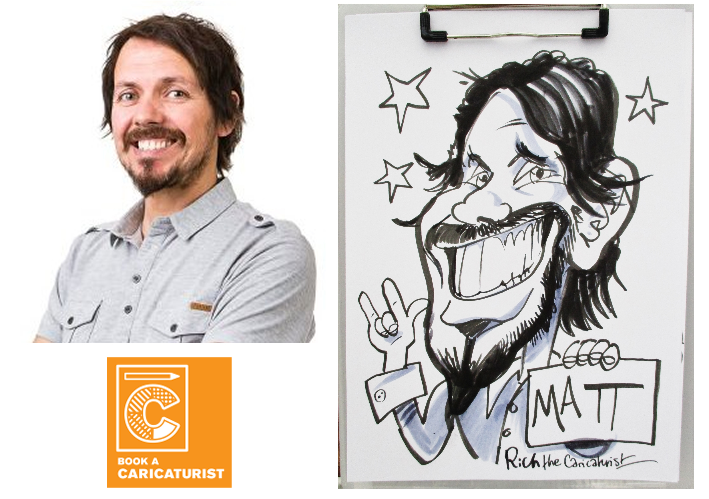 Matt from Warble by Rich the Caricaturist