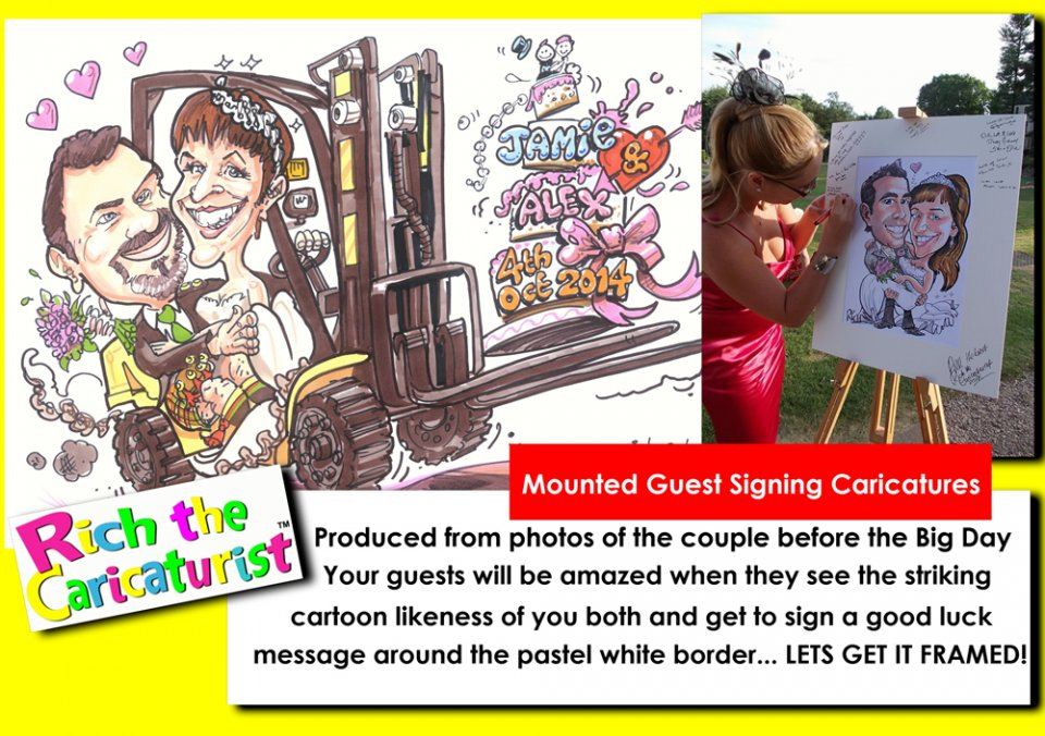 Caricature Signing Board